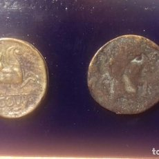 Reproducciones billetes y monedas: PRIMERA MONEDA 1ª MONEDA ACUÑADA EN SEGOVIA-AS DE BRONCE-S.XV AC-RÉPLICA DE PEREZ DE COSSIO. AÑOS 80. Lote 143642190