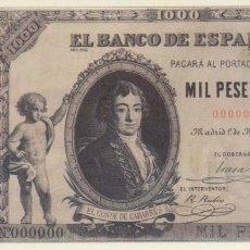 Reproducciones billetes y monedas: BILLETE 1000 PESETAS 1895 REPRODUCCION OFICIAL FNMT - EL CONDE DE CABARRÚS. Lote 143736698
