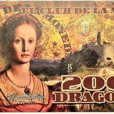 Reproducciones billetes y monedas: COLOMBIA 2000 DRAGONES CLUB DE LA MONEDA 2014 UNC. Lote 144248214