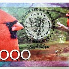 Reproducciones billetes y monedas: COLOMBIA 50000 CAFETEROS CLUB DE LA MONEDA 2016 UNC. Lote 144257810