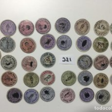 Reproducciones billetes y monedas: MADRID , ALCALÁ , LOTE DE 36 UNIDADES , CARTÓN MONEDA 1937 REPÚBLICA ESPAÑOLA . Lote 144934698