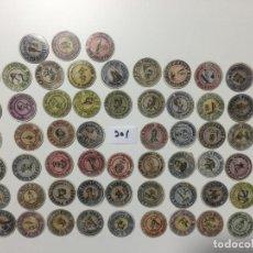 Reproducciones billetes y monedas: ALCALÁ , LOTE DE 62 UNIDADES , CARTÓN MONEDA 1937 REPÚBLICA ESPAÑOLA. Lote 144935450
