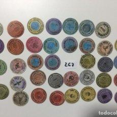 Reproducciones billetes y monedas: LOTE DE 38 UNIDADES , CARTÓN MONEDA 1937 REPÚBLICA ESPAÑOLA . Lote 144936014