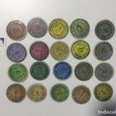 Reproducciones billetes y monedas: SEVILLA , LOTE DE 20 UNIDADES , CARTÓN MONEDA 1937 REPÚBLICA ESPAÑOLA. Lote 144937606