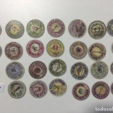Reproducciones billetes y monedas: GUADALAJARA , LOTE DE 27 UNIDADES , CARTÓN MONEDA 1937 REPÚBLICA ESPAÑOLA. Lote 144937790
