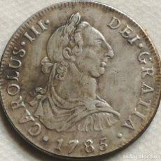 Reproducciones billetes y monedas: RÉPLICA MONEDA 4 REALES. 1785. REY CARLOS III, SANTIAGO DE CHILE, ESPAÑA. Lote 145225938