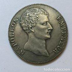 Reproducciones billetes y monedas: 5 FRANCOS DE FRANCIA NAPOLEON EMPERADOR. Lote 145890238