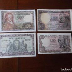 Reproducciones billetes y monedas: BILLETES DE 100 PESETAS REPRODUCCIONES LEGALES FACSIMIL AÑOS 1940 - 1946 - 1948 - 1970. Lote 145948818