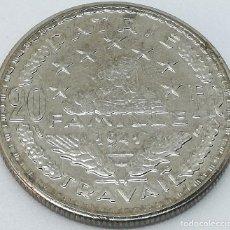 Reproducciones billetes y monedas: RÉPLICA PRUEBA. MONEDA 20 FRANCOS. 1941. MARISCAL PETAIN. ESTADO FRANCÉS, FRANCIA, VICHY. II GUERRA . Lote 146281026