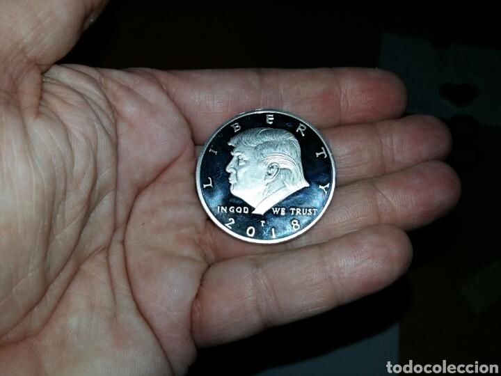 Reproducciones billetes y monedas: Moneda Donald Trump - Foto 3 - 146432409