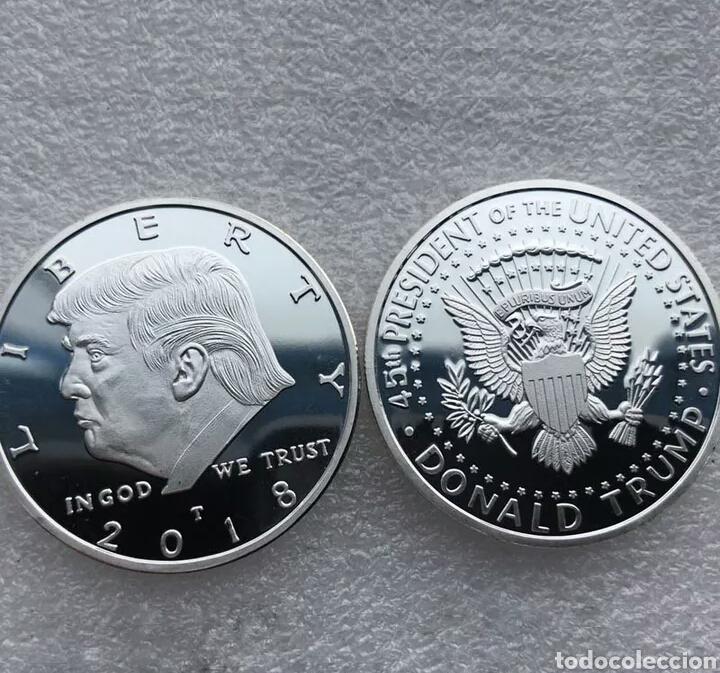 Reproducciones billetes y monedas: Moneda Donald Trump - Foto 4 - 146432409