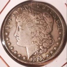 Reproducciones billetes y monedas: MONEDA USA DÓLAR MORGAN 1895 ORLEANS - REPRODUCCIÓN. Lote 60672523
