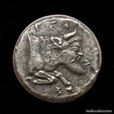 Reproducciones billetes y monedas: REPRODUCCION DE DIDRACMA DE GELA, SICILIA 490-475 A.C.. Lote 147646406