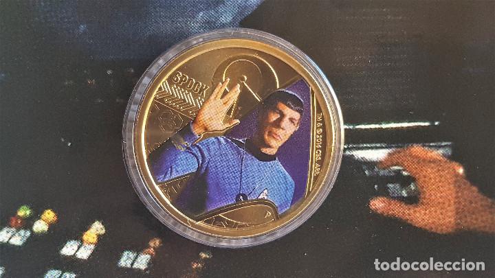 Reproducciones billetes y monedas: Star Trek Spock $1 One Dollar UNC 2016 MONEDA Coin Perth Mint - COLECCIONISTAS - Foto 2 - 171716150