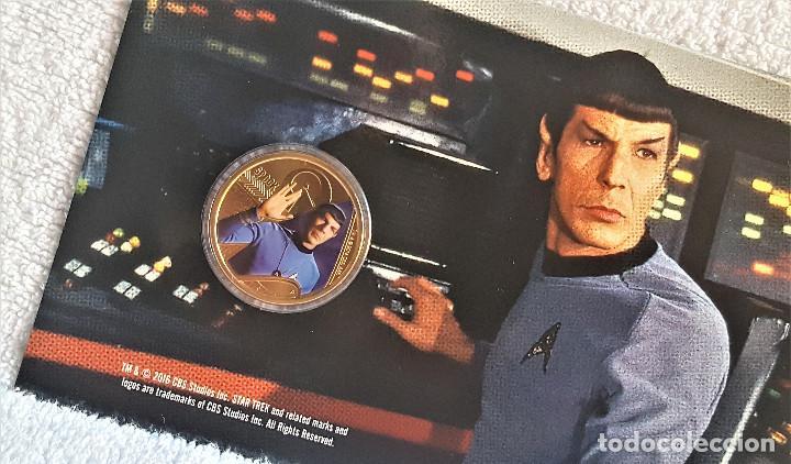 Reproducciones billetes y monedas: Star Trek Spock $1 One Dollar UNC 2016 MONEDA Coin Perth Mint - COLECCIONISTAS - Foto 3 - 171716150