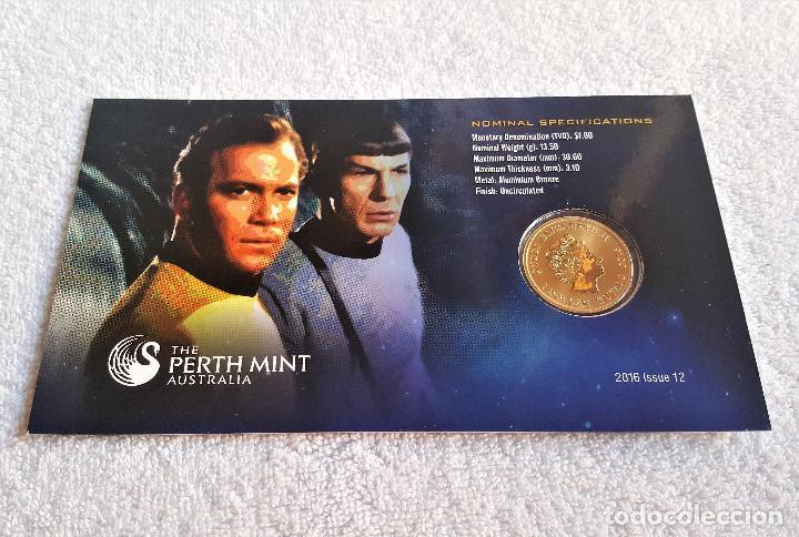 Reproducciones billetes y monedas: Star Trek Spock $1 One Dollar UNC 2016 MONEDA Coin Perth Mint - COLECCIONISTAS - Foto 5 - 171716150