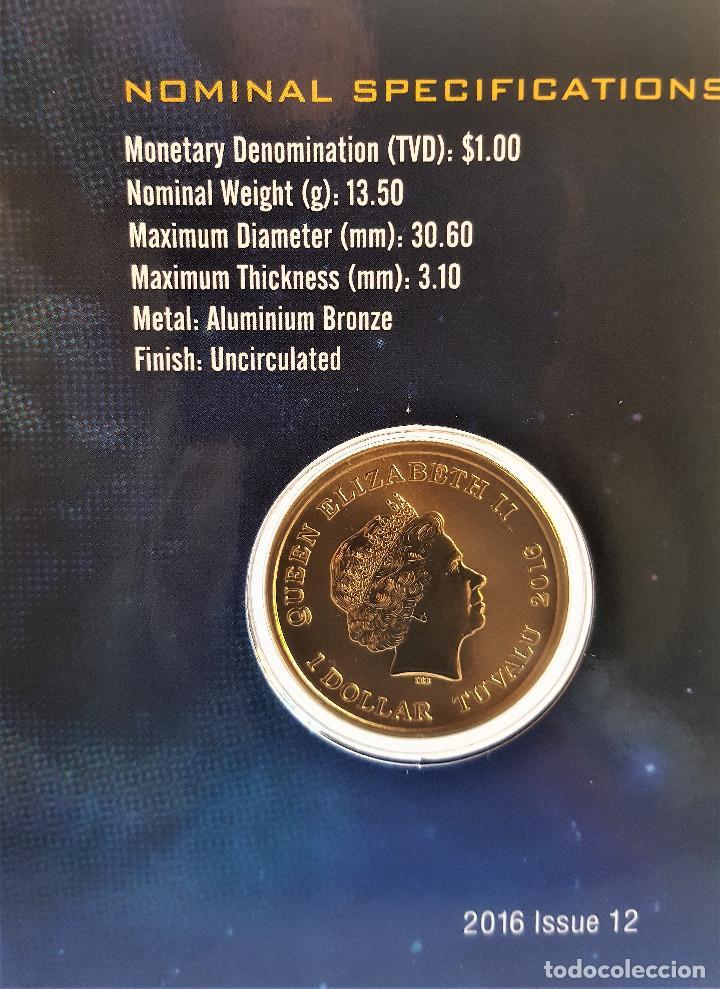 Reproducciones billetes y monedas: Star Trek Spock $1 One Dollar UNC 2016 MONEDA Coin Perth Mint - COLECCIONISTAS - Foto 6 - 171716150