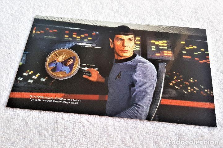 Reproducciones billetes y monedas: Star Trek Spock $1 One Dollar UNC 2016 MONEDA Coin Perth Mint - COLECCIONISTAS - Foto 7 - 171716150