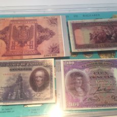 Reproducciones billetes y monedas: COLECCIÓN DE 88 BILLETES ESPAÑOLES (REPRODUCCIONES). Lote 148169885
