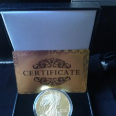 Reproducciones billetes y monedas: EXCELENTE MONEDA DE AMERICAN EGALE CON CERTIFICADO DE AUTENTICIDAD Y CAJA POLIPIEL.. Lote 161939694