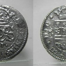 Reproducciones billetes y monedas: REPRODUCCION MONEDA DE CARLOS III 2 REALES 1711. Lote 148553618
