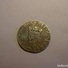 Reproducciones billetes y monedas: MONEDA DE 1 CROAT DE ALFONSO IV EL MAGNÁNIMO. RÉPLICA DE PLATA.. Lote 148620618