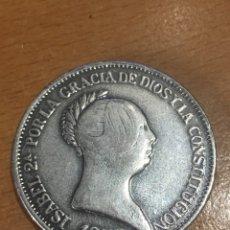 Reproducciones billetes y monedas: 20 REALES ISABEL II 1852 PLATA FALSO ÉPOCA 21 GR. Lote 148639817