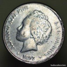 Reproducciones billetes y monedas: 5 PESETAS 1892 ALFONSO XIII - RÉPLICA. Lote 149756086