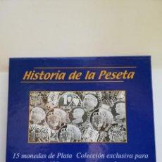 Riproduzioni banconote e monete: COLECCION DE 15 PESETAS EN PLATA. Lote 149935966