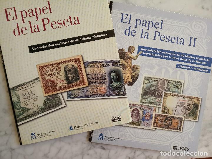 EL PAPEL DE LA PESETA I Y II COLECCION COMPLETA DE 80 BILLETES (Numismática - Reproducciones)