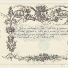 Reproducciones billetes y monedas: BILLETE 1000 REALES DE VELLON REPRODUCCION OFICIAL FNMT - 17 JULIO DE 1799. Lote 151400366