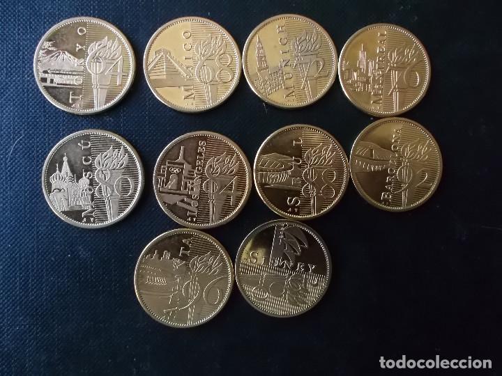 Reproducciones billetes y monedas: coleccion de medallas de diversos juegos Olympicos bañadas en oro nordico Tokyo 64 - Sidney 2000 - Foto 8 - 151693246