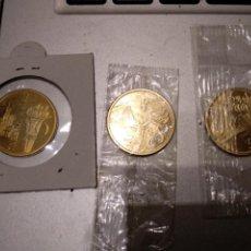 Reproducciones billetes y monedas: MEDALLAS DE DIVERSOS JUEGOS OLÍMPICOS CON BAÑO DE ORO. Lote 151886576