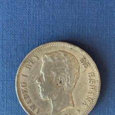 Reproducciones billetes y monedas: MONEDA FALSA 5 PESETAS 1871 DEM AMADEO I. NO COINCIDENTE.. Lote 152635882
