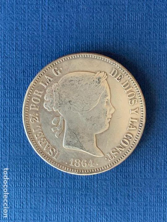 MONEDA FALSA 20 REALES 1864 MADRID ISABEL II. COINCIDENTE. (Numismática - Reproducciones)