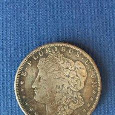 Reproducciones billetes y monedas: MONEDA FALSA 1 DOLAR AMERICANO AÑO 1921.. Lote 152656170