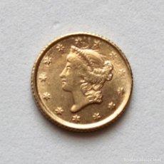 Reproducciones billetes y monedas: DOLLAR USA 1852. Lote 153093270