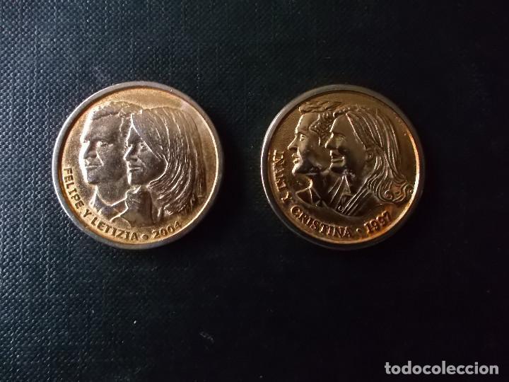 Reproducciones billetes y monedas: medallas casa real Rey y Reina Felipe y Letizia e Infantes Iñaqui y Cristina , Jaime y Elena - Foto 3 - 150201550