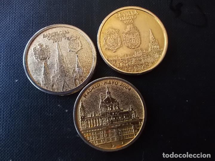 Reproducciones billetes y monedas: medallas casa real Rey y Reina Felipe y Letizia e Infantes Iñaqui y Cristina , Jaime y Elena - Foto 2 - 150201550