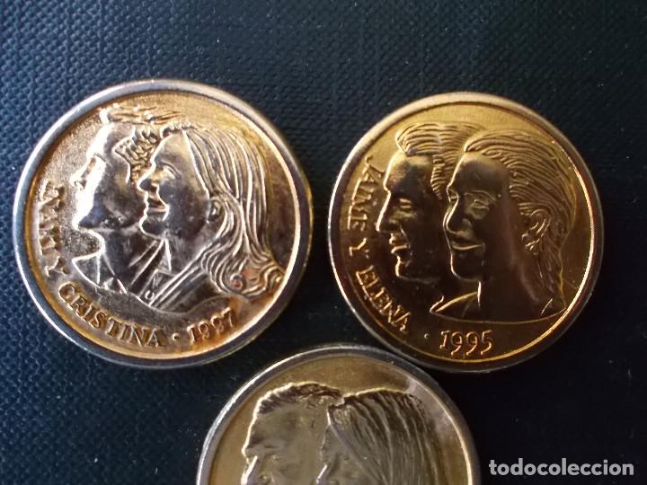 Reproducciones billetes y monedas: medallas casa real Rey y Reina Felipe y Letizia e Infantes Iñaqui y Cristina , Jaime y Elena - Foto 5 - 150201550