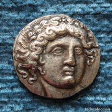 Reproducciones billetes y monedas: REPRODUCCION DE TETRADRACMA DE ANFIPOLIS, MACEDONIA 410-357 A.C.. Lote 154400522