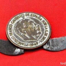 Reproducciones billetes y monedas: CURIOSA REPRODUCCIÓN DE UN DURO DE FRANCO 1949 CON LIMAS PARA LAS UÑAS, SUPER VINTAGE. Lote 154799918