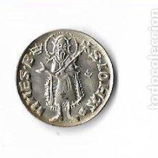 Reproducciones billetes y monedas: MONEDA MEDIEVAL DE PLATA CALALUÑA. S.IOHA. NNES.B. ARAGO-REX.. Lote 154989562