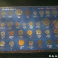 Reproducciones billetes y monedas: COLECCIÓN HISTORIA DE LA PESETA 30 MONEDAS NORTE DE CASTILLA COMPLETA. Lote 155360126