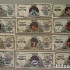 Reproducciones billetes y monedas: COLECCIÓN COMPLETA. 12 BILLETES ESTADOS UNIDOS. HORÓSCOPOS SIGNOS DEL ZODIACO.. Lote 155614302