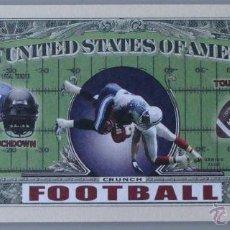 Reproducciones billetes y monedas: BILLETE EEUU CONMEMORATIVO. DÓLAR. NFL FOOTBALL FÚTBOL AMERICANO RUGBY. DÓLARES. PERFECTO. . Lote 155615598