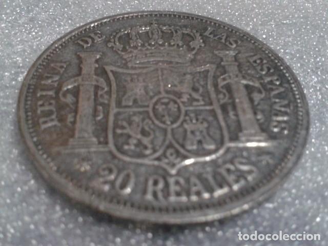 Reproducciones billetes y monedas: MONEDA 20 REALES ISABEL 2ª 1860 ( REPLICA ) - Foto 2 - 156538718