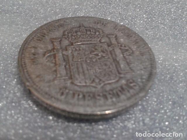 Reproducciones billetes y monedas: MONEDA 5 PESETAS ALFONSO XIII 1892 ( REPLICA ) - Foto 3 - 156541110