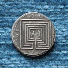 Reproducciones billetes y monedas: REPRODUCCION DE UN DRACMA DE KNOSSOS, 220 A.C.. Lote 157378254