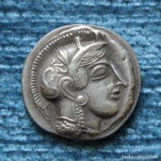 Reproducciones billetes y monedas: REPRODUCCION DE TETRADRACMA DE ATENAS, 455-449 A.C.. Lote 157494950
